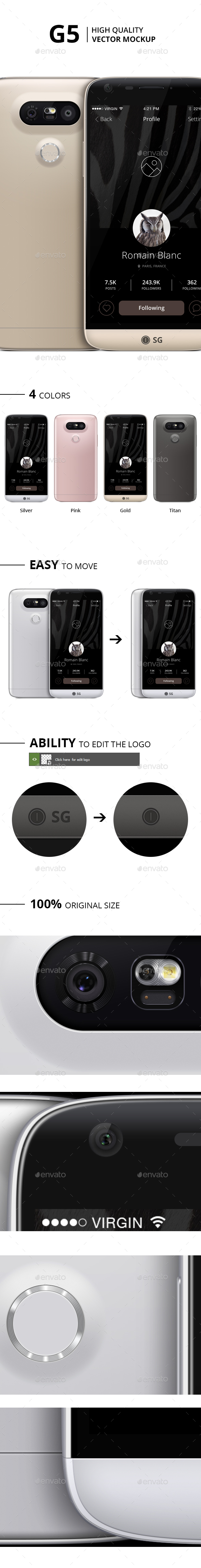 Flat Device Mockup Set - Including Apple Watch (Displays)