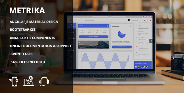 Image of Metrika - Bootstrap Material admin dashboard