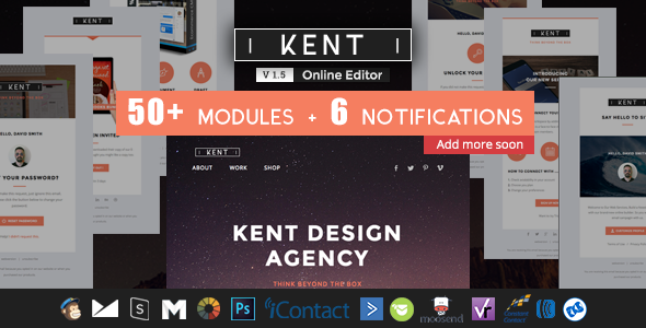 Kent - Responsive Email + StampReady Builder