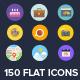 150 Flat Icons