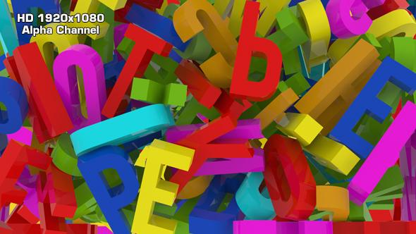 Alphabet Transition - 3D, Object siirtymiset Motion Graphics