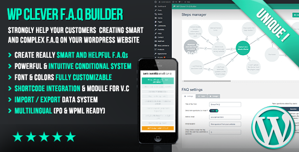 WP Clever FAQ Builder – Smart support tool for WordPress