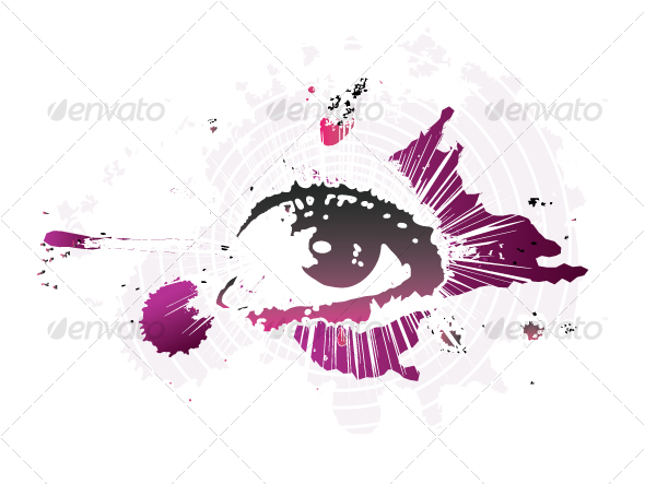 """Eye"". Grunge design - People Characters"