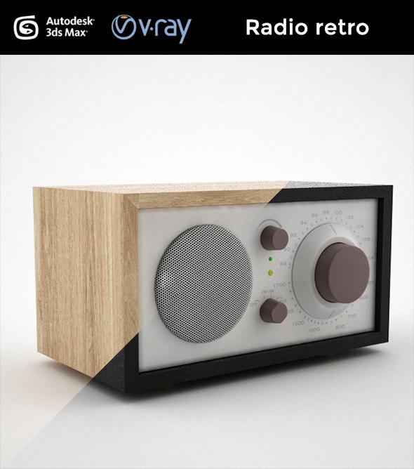 Radio retro - 3DOcean Item for Sale