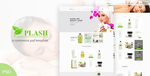 Plash Spa - eCommerce PSD Template