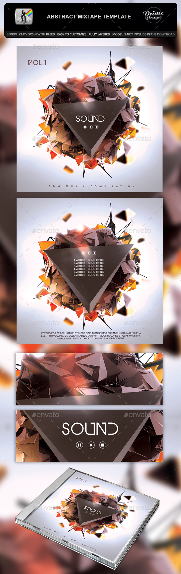Mixtape Template Graphics Designs Templates From Graphicriver