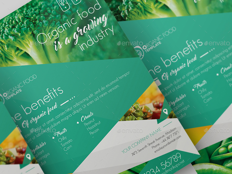 Organic Food Flyer Template by wutip2 – Food Flyer Template