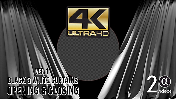 Download 3D Black and White Curtains Ver. 1 nulled download