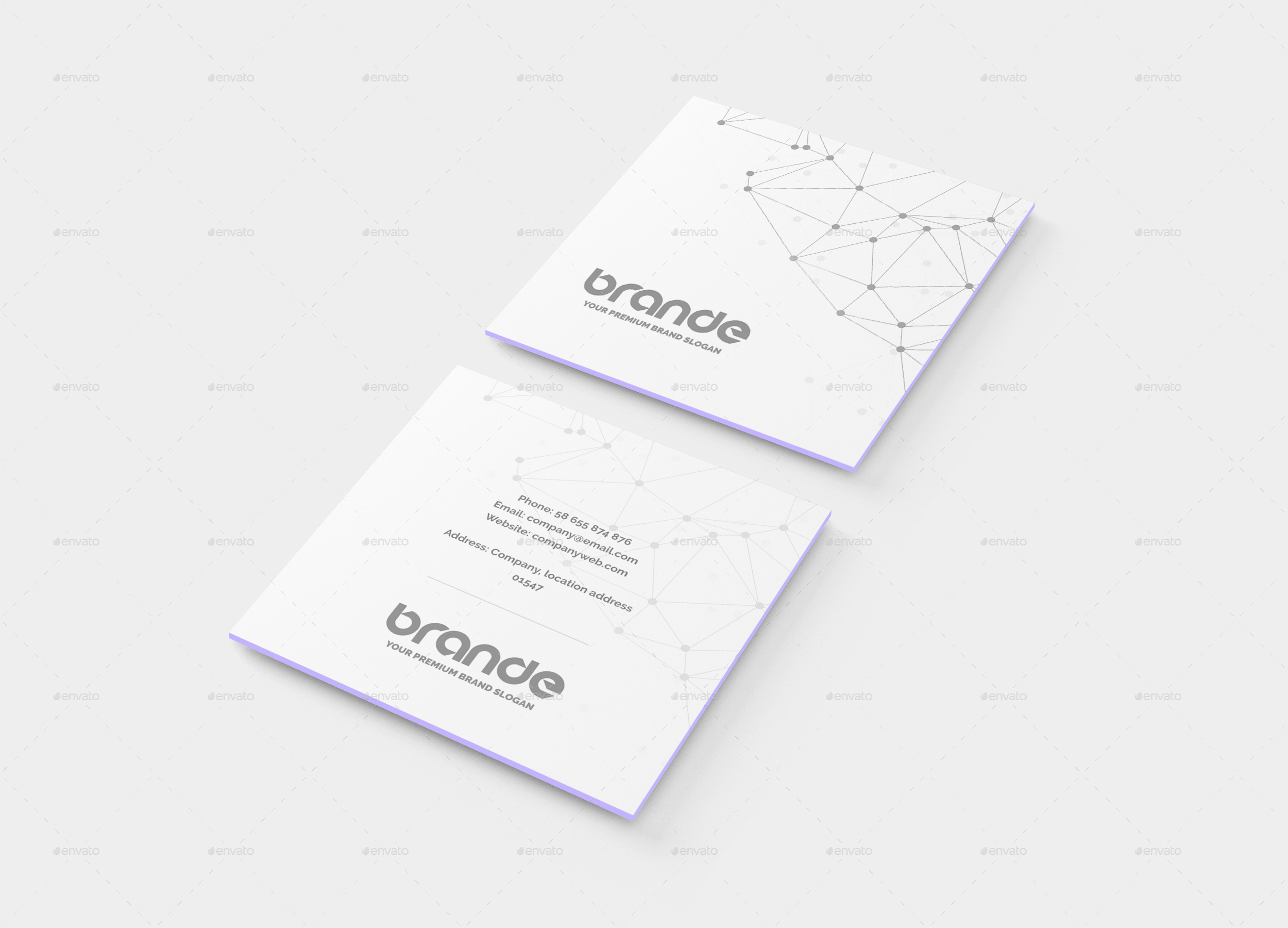 luxury collection of square business card mockup business cards