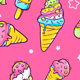 Download Vector Set of Colorful Patterns with Ice Creams