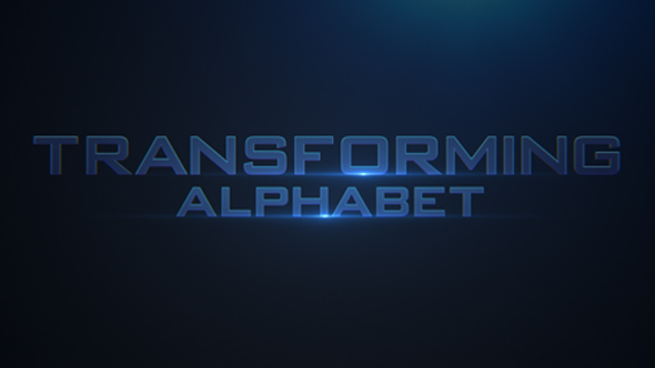Transforming Alphabet KIT - Teknologia Sekalaisia Elements After Effects Project Files