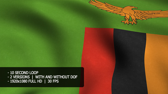 Sambia Flag Tausta - Taustat Motion Graphics
