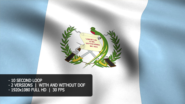 Guatemala Flag Tausta - Taustat Motion Graphics