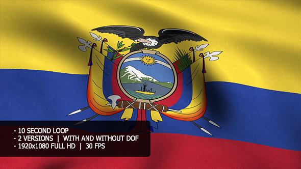 Ecuador Flag Tausta - Taustat Motion Graphics