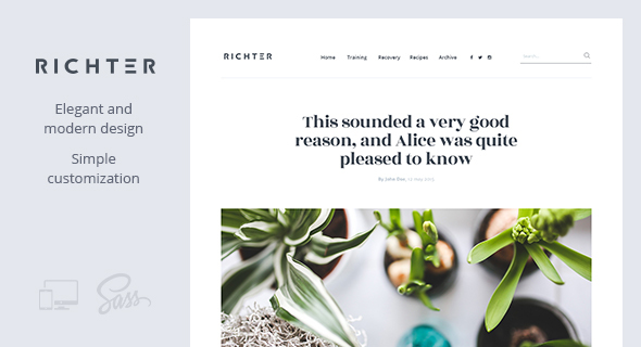 Richter – Creative WordPress Blog Theme