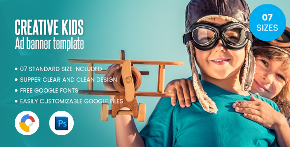 Download Kids Creative Banner Hml5- Google Web Designer nulled download