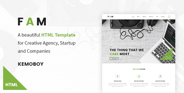 FAM - Creative Agency HTML Templates