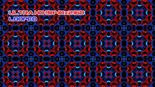 Sininen ja punainen sydän - abstrakti taustat Motion Graphics