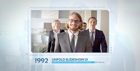 Unfold Diaesitys - Näyttää Tuote Promo After Effects Project Files