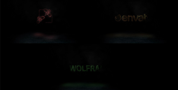 Wolfram Logo Reveal - Electric Logo pistot After Effects Project Files