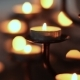 Candle Flame at Night in Church