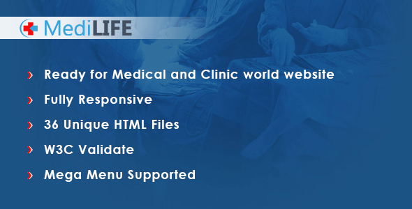 MediLIFE - Multipurpose Medical Template by Appclick