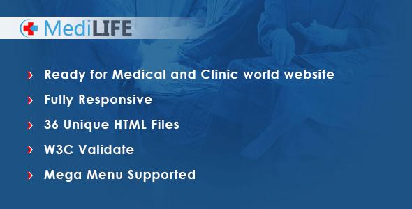 MediLIFE - Multipurpose Medical Template by Appclick