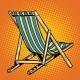 Deck Chair Striped Blue Beach Lounger