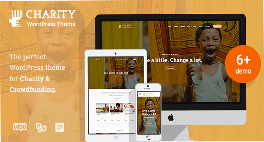 Charity WordPress theme