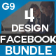 Facebook Cover Bundle - 4 Design