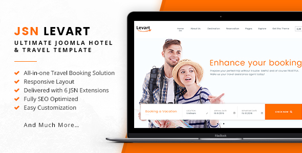 JSN Levart - Ultimate Joomla Hotel & Travel Template