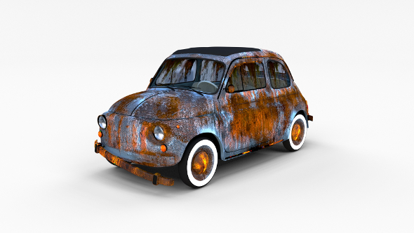 Weathered Fiat 500 Nuova rev - 3DOcean Item for Sale