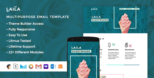 Image of Laila - Responsive Email + StampReady Builder