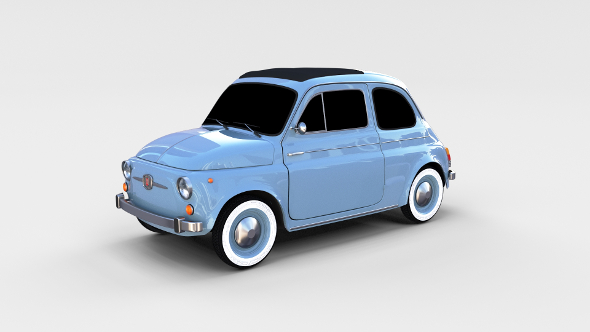 Fiat 500 Nuova 1957 rev - 3DOcean Item for Sale