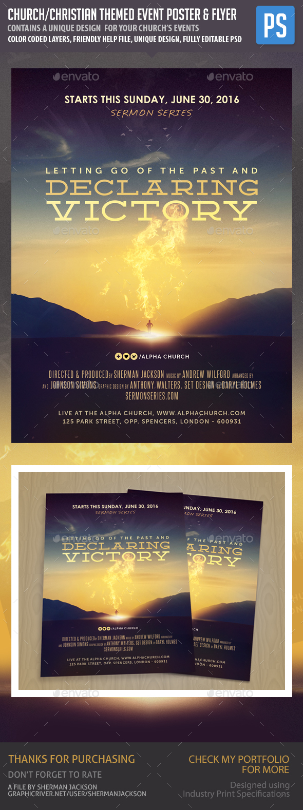 GraphicRiver  Christian Flyer Templates