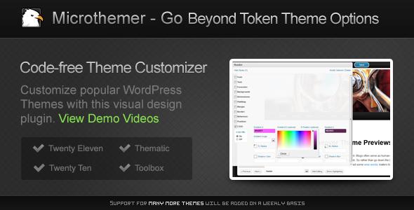 CodeCanyon Microthemer WordPress Visual Design Plugin 1651051