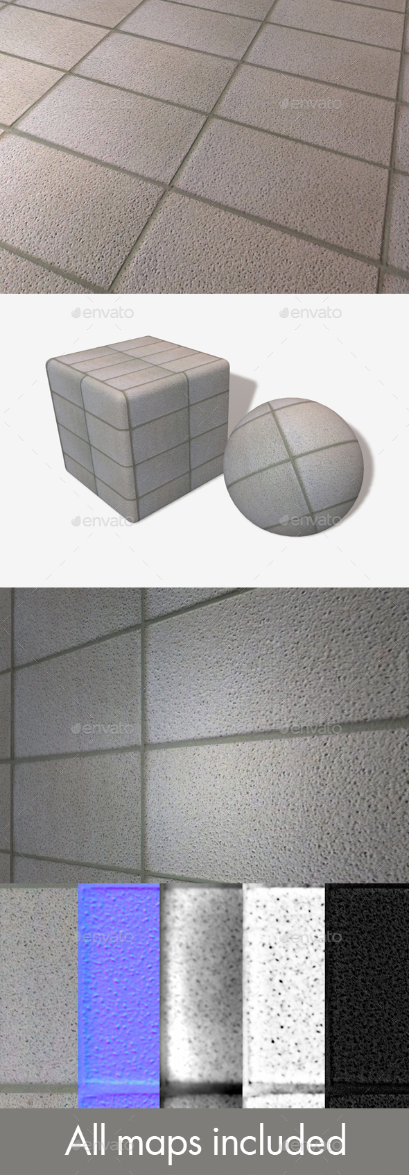 Concrete Panels Seamless Texture - 3DOcean Item for Sale