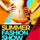 Summer Fashion Show Flyer Template