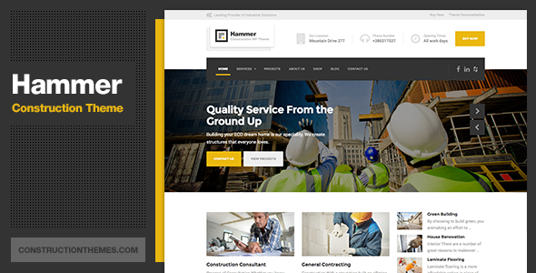 Download Hammer - Construction WordPress Theme