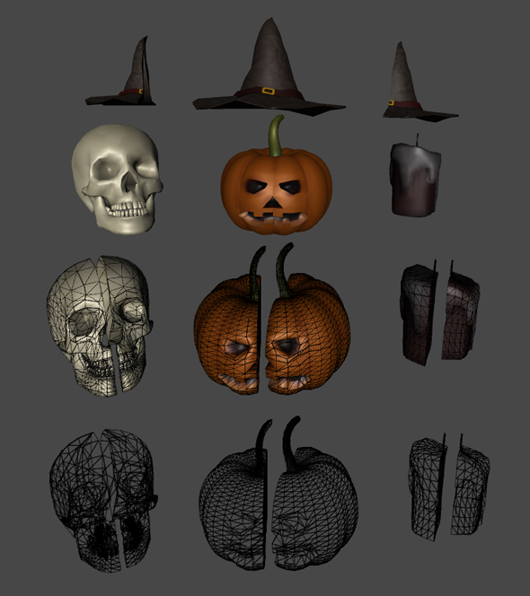 Halloween 3D Pack - 3DOcean Item for Sale