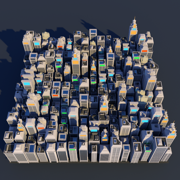 Lowpoly City Megapack - 3DOcean Item for Sale