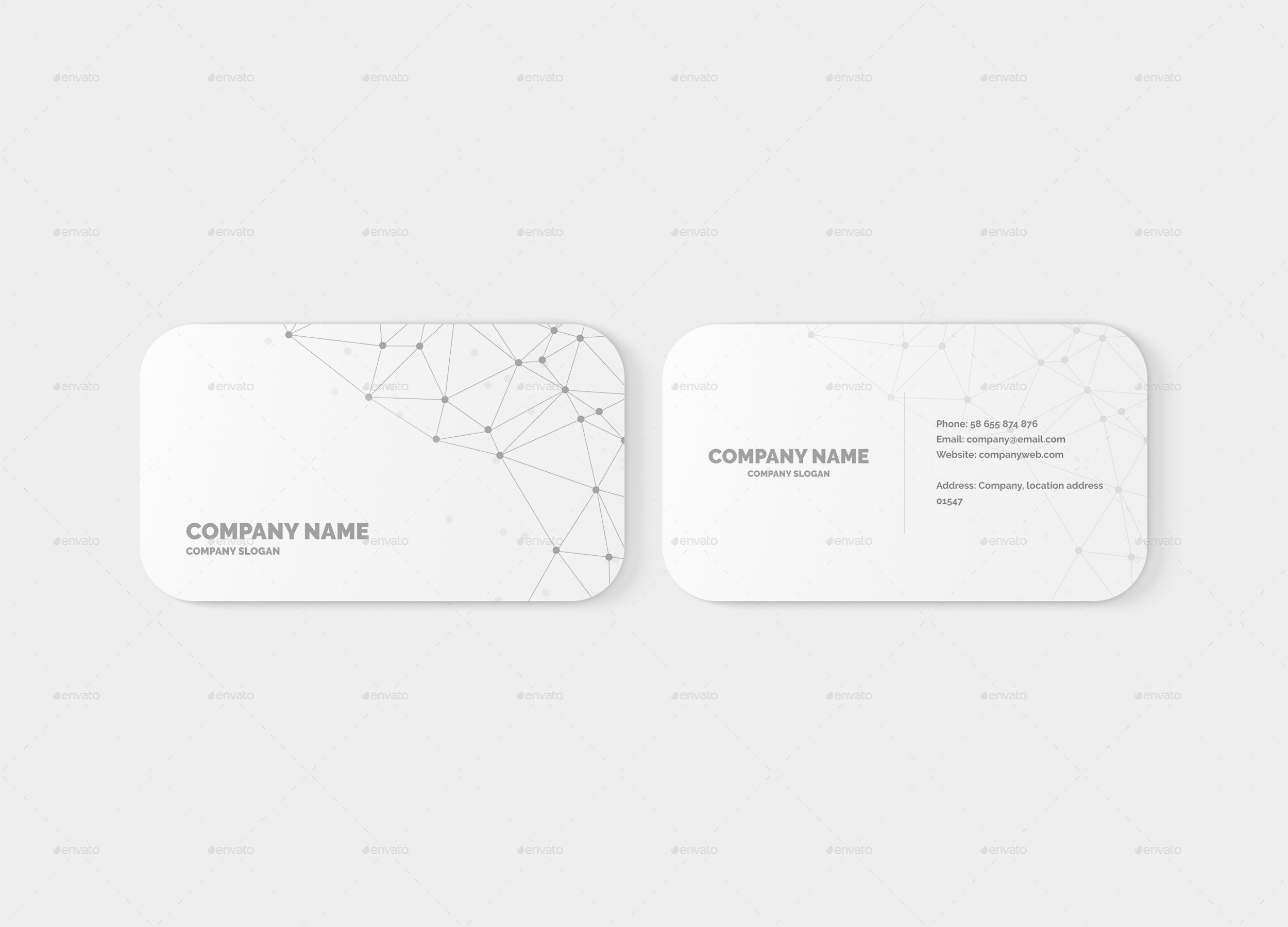 Business card mockup round corners by toasin graphicriver for Business card rounded corners