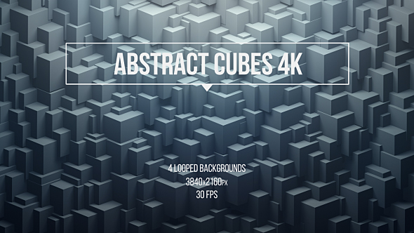 Tiivistelmä kuutiot - Abstract Taustat Motion Graphics