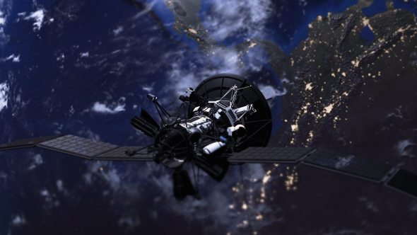 Satellite yli Earth - Space Taustat Motion Graphics