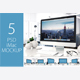 5 PSD Mock-up Mac