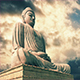 Buddha Statue With Epic Sky Timelapse