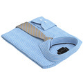 Folded classic men's shirt with long ties