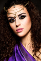 Beauty fashion model girl with bright makeup