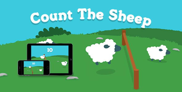 Download Count the Sheep - HTML5 Game nulled download