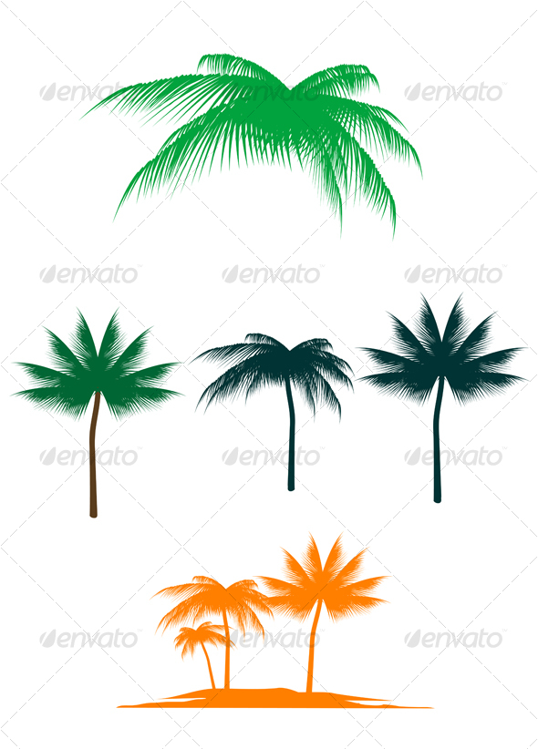 GraphicRiver Palm tree set 64998